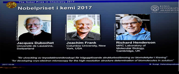 Win 2017 Nobel Prize in Chemistry By Dubochet, Frank, Henderson Stockholm, October 4