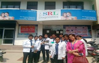 An educational visit was conducted on 3.4.18 of microbiology students to an advanced diagnostic laboratory, SRL Diagnostics. It aimed to focus the diagnostic techniques which are recently added to the routine diagnostic field of microbiology, biochemistry, and pathology. Students were exposed to different new diagnostic tools